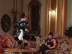 Lesbo maid seduces lustful mistress